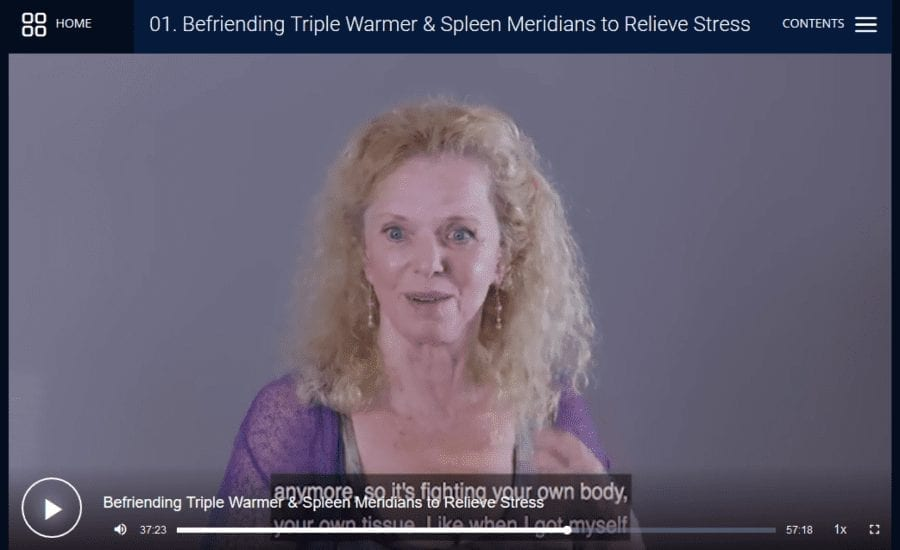 Still shot from energy medicine donna eden