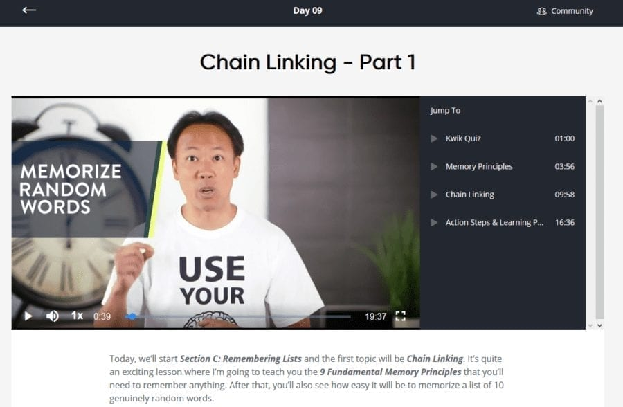 Day 9 Of Superbrain Quest: Jim Kwik Teaches Chain Linking