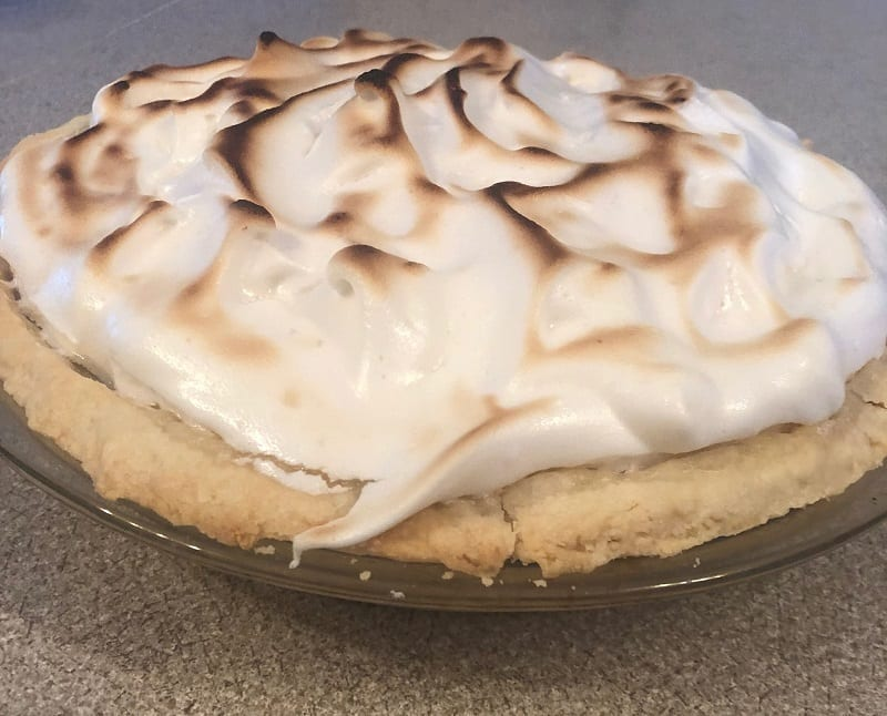 My Mom Tried Her Hand At Vegan Lemon Meringue Pie And Almost Nailed It