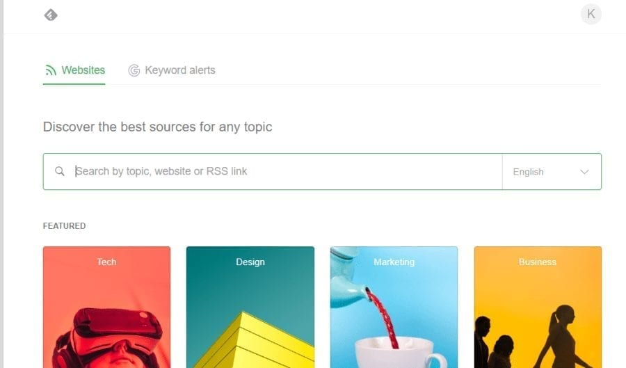 search feedly