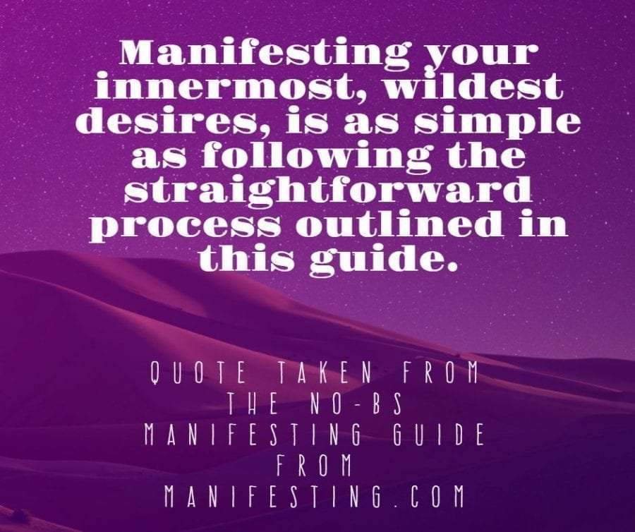 no-bs manifesting guide quote