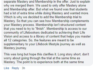LIfebook Mastery And Membership combined