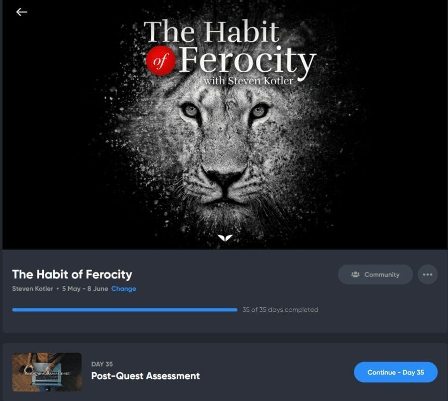 My Experience With Mindvalley's The Habit Of Ferocity Quest