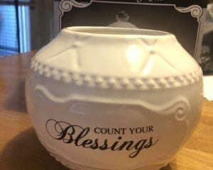 Ceramic Blessing Jar with 36 Blessings, 6.75-Inch no lid