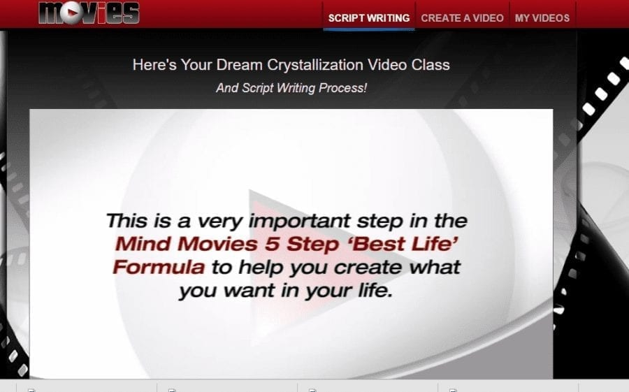 mind movies screenshot script writing