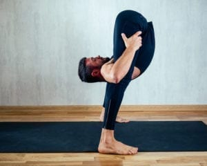 A man doing yoga