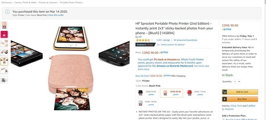 HP Sprocket Portable Photo Printer Review