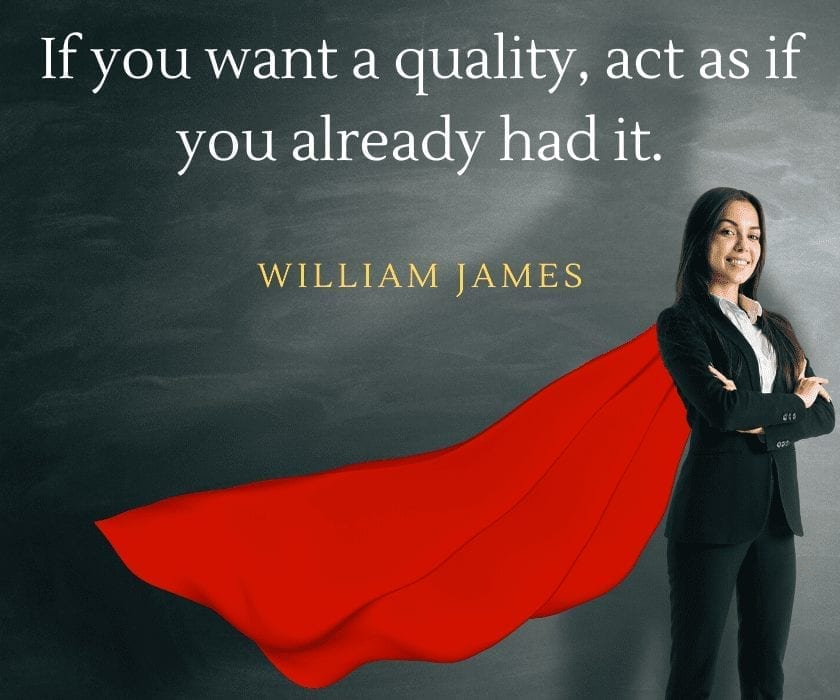 Raikov Effect Review: If you want a quality, act as if you already had it. William James quote