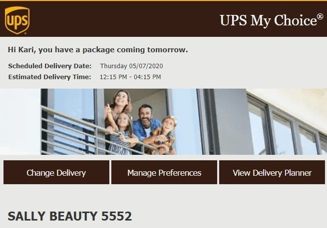 Sally Beauty Delivery Screenshot