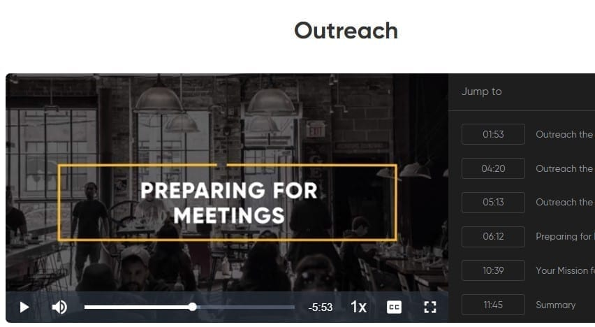 Mastering Authentic Networking quest by Keith Ferrazzi screenshot of outreach day