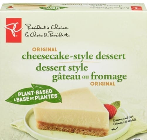 President's Choice plant based cheesecake