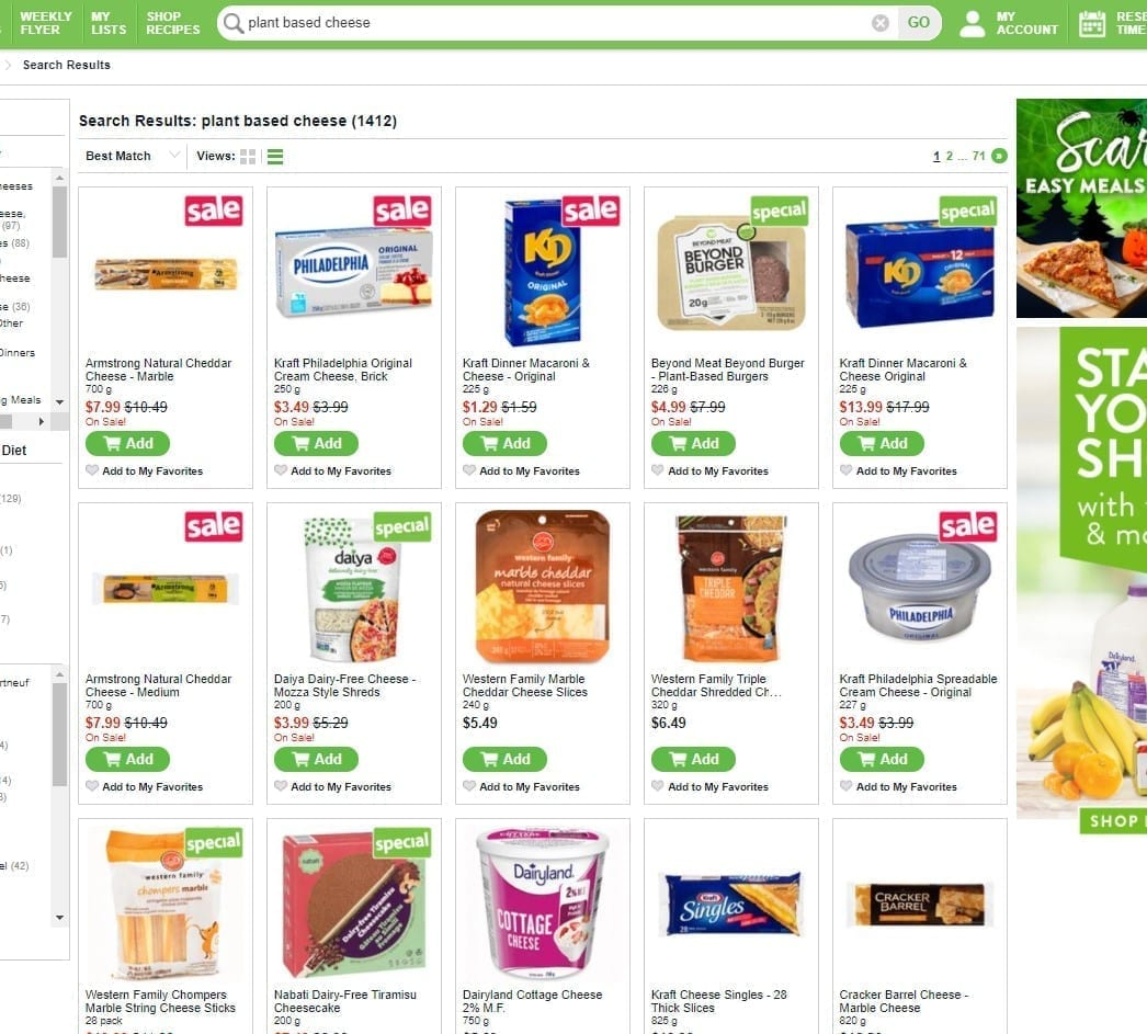 grocery store save on foods