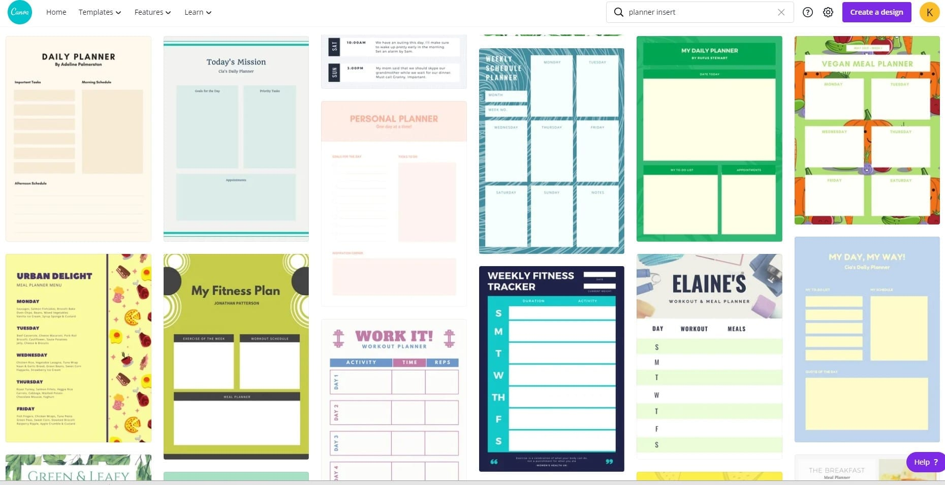 Canva Template for planner