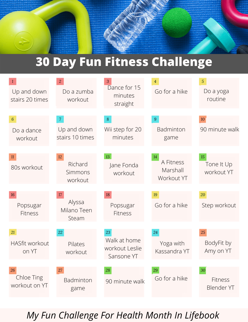 My 30-Day Fun Fitness Challenge For Health Month