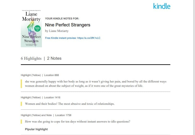 Nine Perfect Strangers Book Review Since I Can't Watch The Show